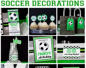Soccer Party Decorations INSTANT DOWNLOAD