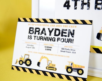 construction birthday party decorations construction party etsy