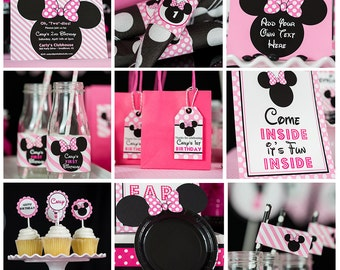Minnie Mouse Party Decorations INSTANT DOWNLOAD