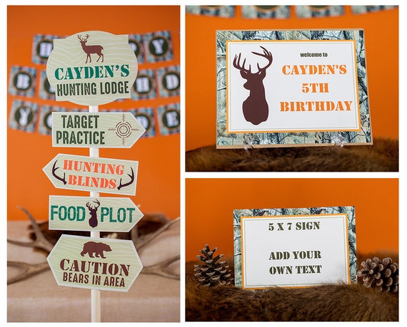 Camo birthday invitation, camo invitation, Boy Hunting ...   Hunting Party Printables