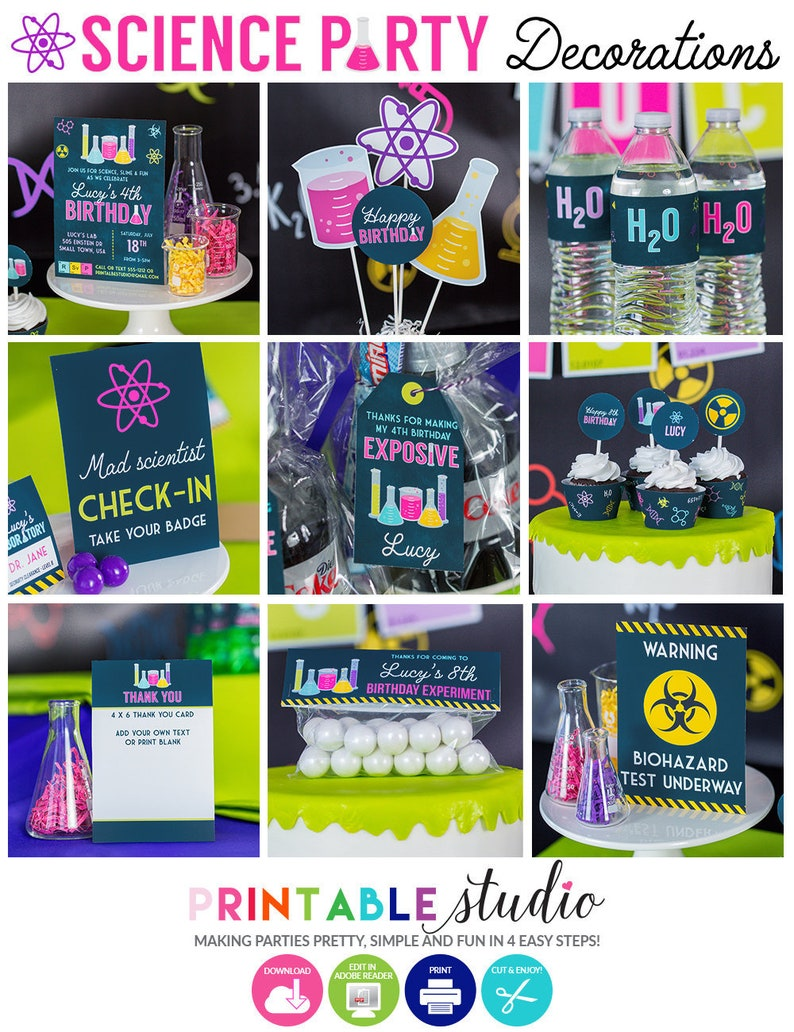 Girls Science Party Decorations Birthday