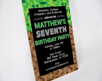 Video Game Invitation - Printable Video Game Party Invitation - Video Game Invitation Template - Instant Download Video Game Invitation