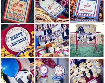 Cowboy Party Decorations INSTANT DOWNLOAD Printable Cowboy Birthday Party by Printable Studio