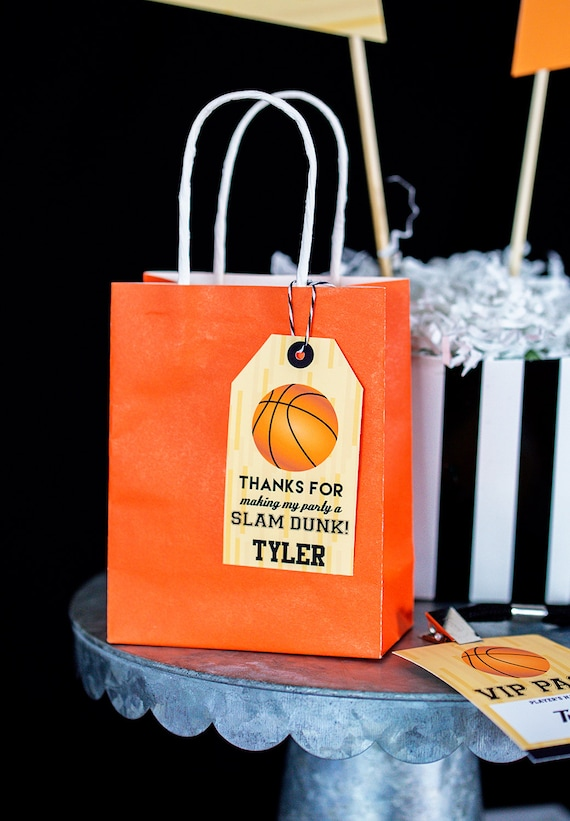 Basketball Favor Tag - Printable Basketball Party Favor ...