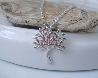 Tree of Life Necklace, 925 Sterling Silver Chain, Pendant Charm, Handmade Gift for Women, Custom Sizes