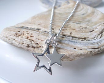 Star Necklace, Sterling Silver Star Pendant Necklace, Silver Necklace for Women, Dainty Necklace, Everyday Necklace, Friend gift, Handmade