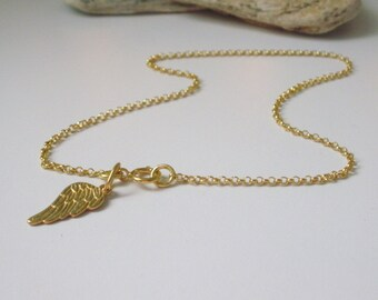 Private Listing for Danielle - Gold Vermeil Angel Wing Anklet