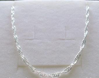 Sterling Silver Anklet, Fancy Twist Ankle Chain, Sparkling Silver Ankle Bracelet, Gift for Women, Handmade, Custom Sizes, Optional Extender