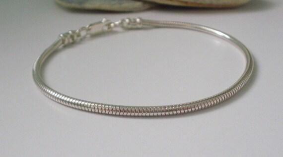 Children 925 Sterling Silver Bead Bracelet Women Bangle Charm Jewellery Gift UK