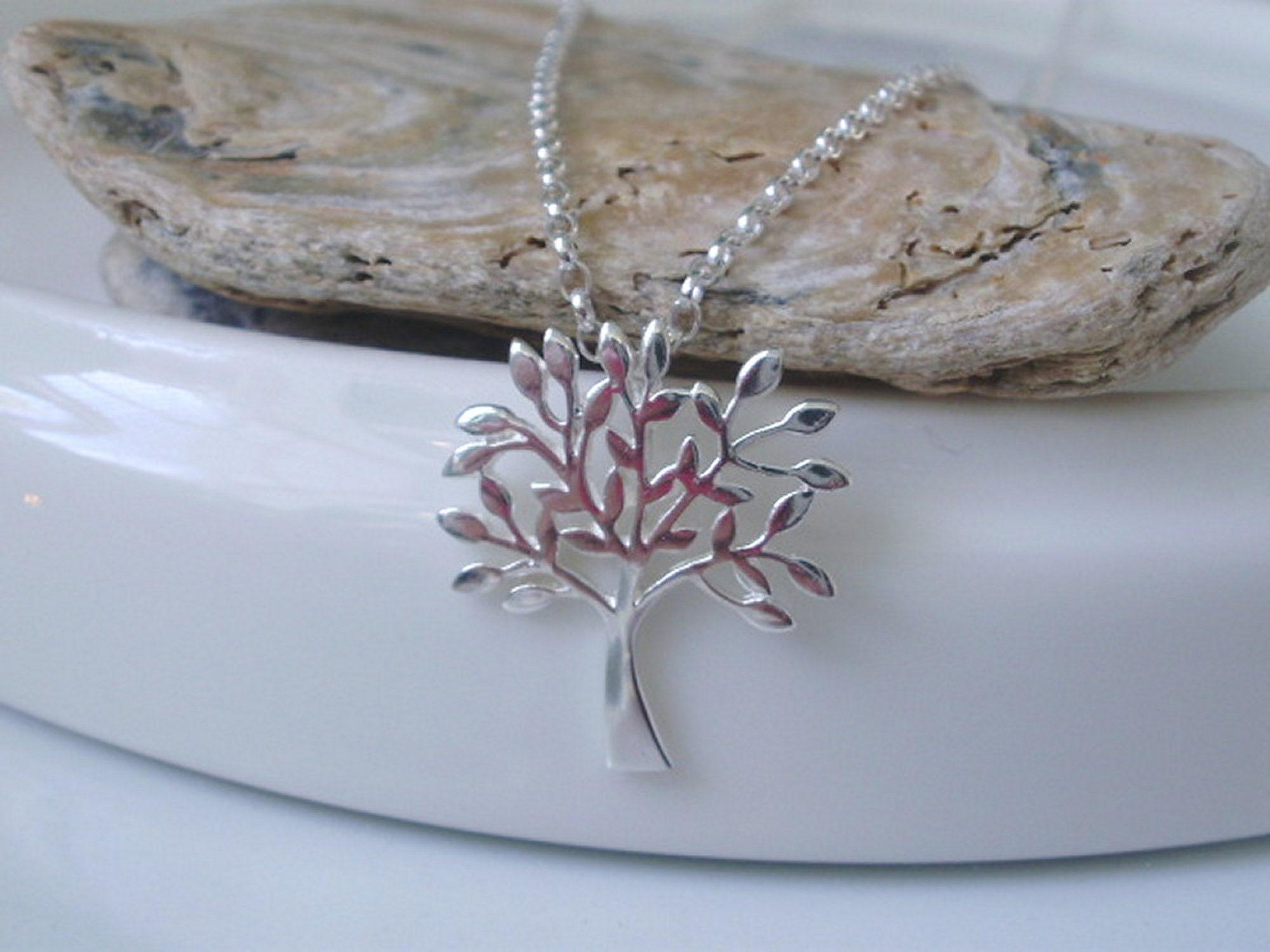 Elegant Sterling Silver Woman Power Charm Pendant Necklace
