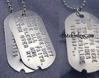 Bulksale dog tags 30 pcs Call my Mom before she freaks out Nice polished stainless gold steel  dog tag  military tag with bails-G2517