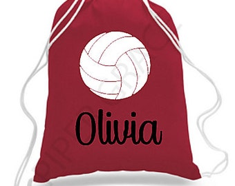 Volleyball Drawstring Bag, Volleyball Gift Ideas, Volleyball Bag, Volleyball Backpack, Volleyball Coach Gifts, Volleyball Team Gifts