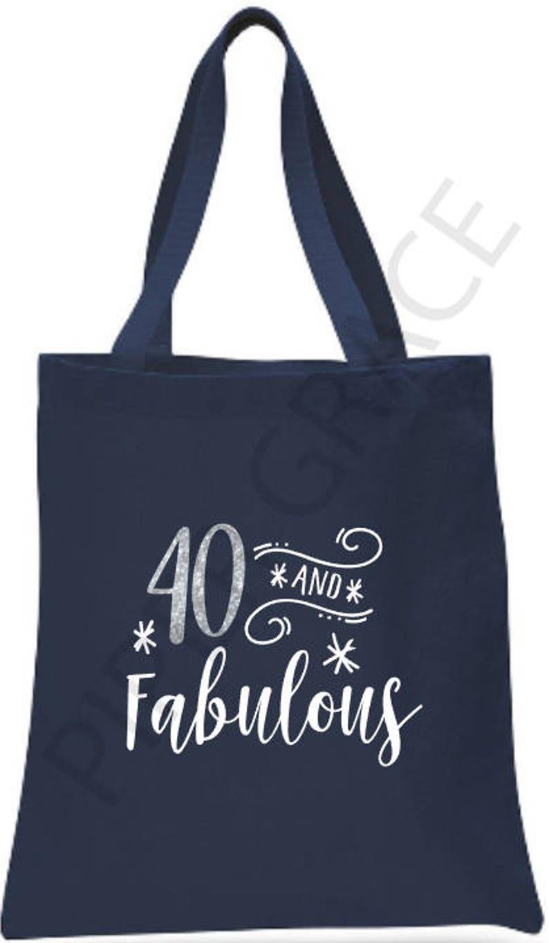 40th Birthday Tote Bag Gift