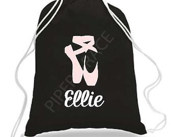 Ballet Drawstring Bag, Dance Bags, Ballet Bag, Personalized Dance Bags, Girls Dance Bag, Ballet Gifts, Personalized Dance Bag, Dance Gifts