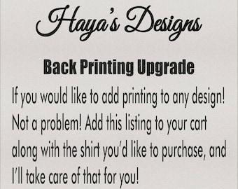 Customization or Printing Add On - Upgrade