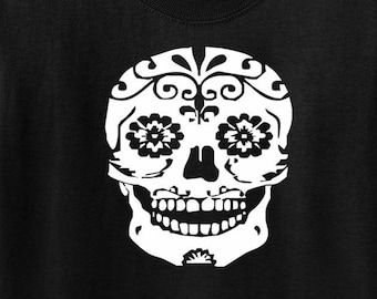 Day of the Dead Sugar Skull T-Shirt 6mos-Jr/'s XL Dia de los Muertos