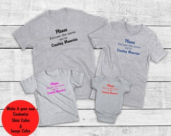 a40a7bca Fun, Please Excuse the Mess We're Making Memories T-Shirt, Family, Kids,  Custom, Colors All Family Sizes Infant 6 mos to Adult 6-XL