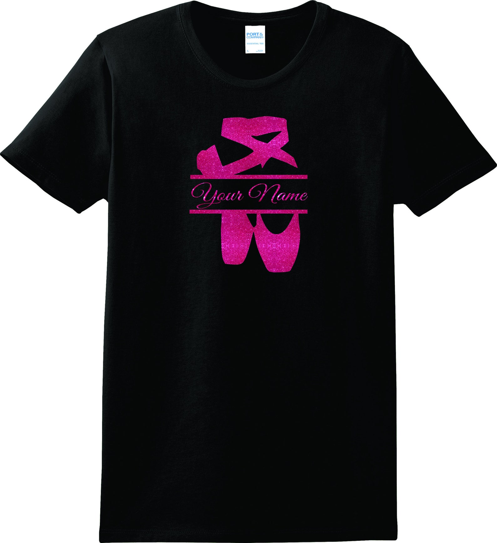 ballet dance shirt personalize with name/school or team t -shirt, personalize the colors, all sizes infant 6 mos to adult 6-xl