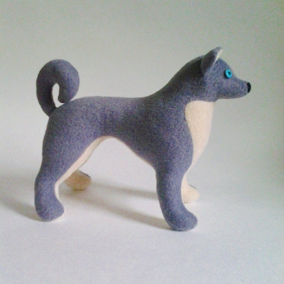Husky dog pattern plush toy dog sewing pattern soft toy dog | Etsy