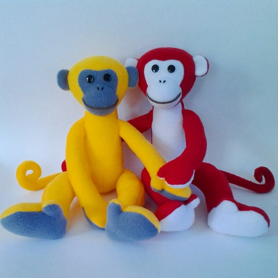 2016 Monkey Sewing Pattern Soft Toy Sewing Pattern And Etsy