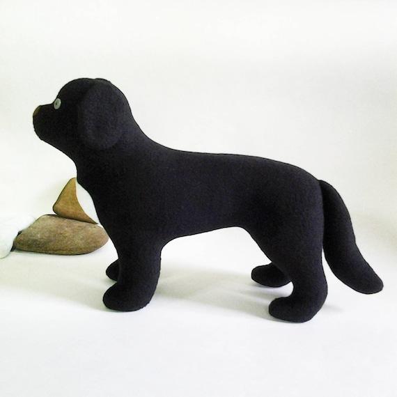 Newfoundland dog pattern stuffed toy dog sewing pattern soft | Etsy