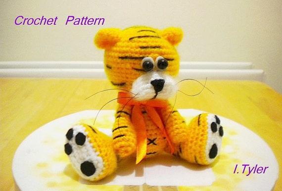 Tiger Crochet Pattern Amigurumi Tiger Olly Etsy