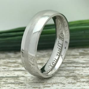 8mm Black Titanium Ring Ring for Fiance Wife Name Ring Couple Promise Ring Couples Names Ring Engraved Date Ring Roman Numeral Ring
