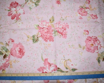 """Fabric Roses Pink Floral Flowers """"Scented Memories"""" Wilmington Prints Danhui Nai Sewing Quilting Fabric"""