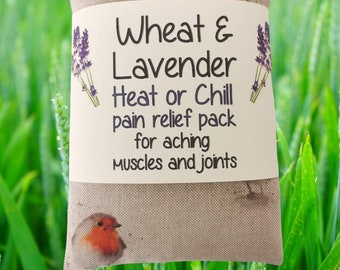 ROBINS (new) Wheat & Lavender Heat/Chill pack, Microwave/Freezer, Healing,Soothing,Pain relief,Aromatic,Therapeutic