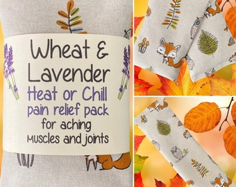 """Wheat bag OWLS WOODLAND Wheat & Lavender Heat pack/Chill pack, Microwave/Freezer, Soothing, Therapeutic,16""""x4.5"""""""