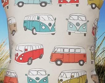 Camper van cushion cover - VW Camper Van - Camping - Holiday - Volkswagen camper - Summer cushion - MULTI