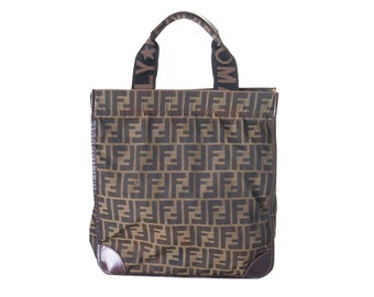 3b68d471019 Vintage Fendi 90s Zucca Tote Bag