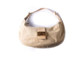 3569f64486a9 Vintage Fendi 90s Suede Croissant Bag