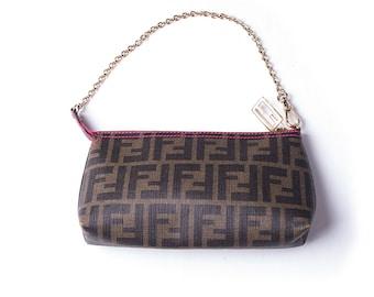 cefed00bf175 Vintage Fendi Zucca Pochette Bag