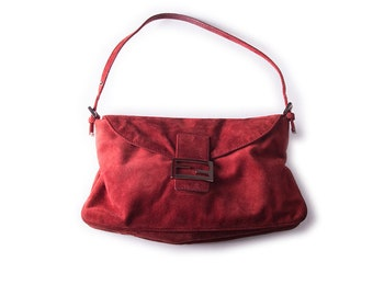 659ebe4e9a33 Vintage Fendi Suede Baguette Bag