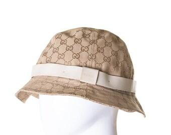 a913625ea811ab Vintage Gucci 90s Monogram Bucket Hat