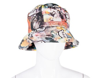Vintage Moschino Cheap and Chic 90s Animal Printed Bucket Hat e85c8eda23e7