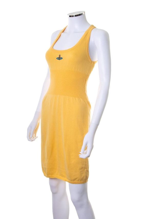 Vivienne Westwood Yellow Knit Orb Dress