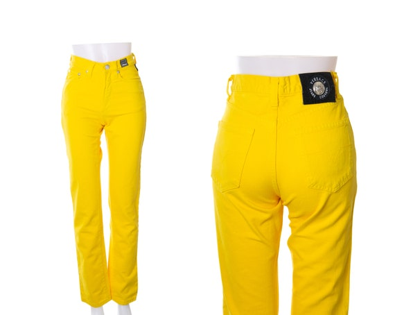 Versace Jeans Couture Yellow High Waisted Jeans