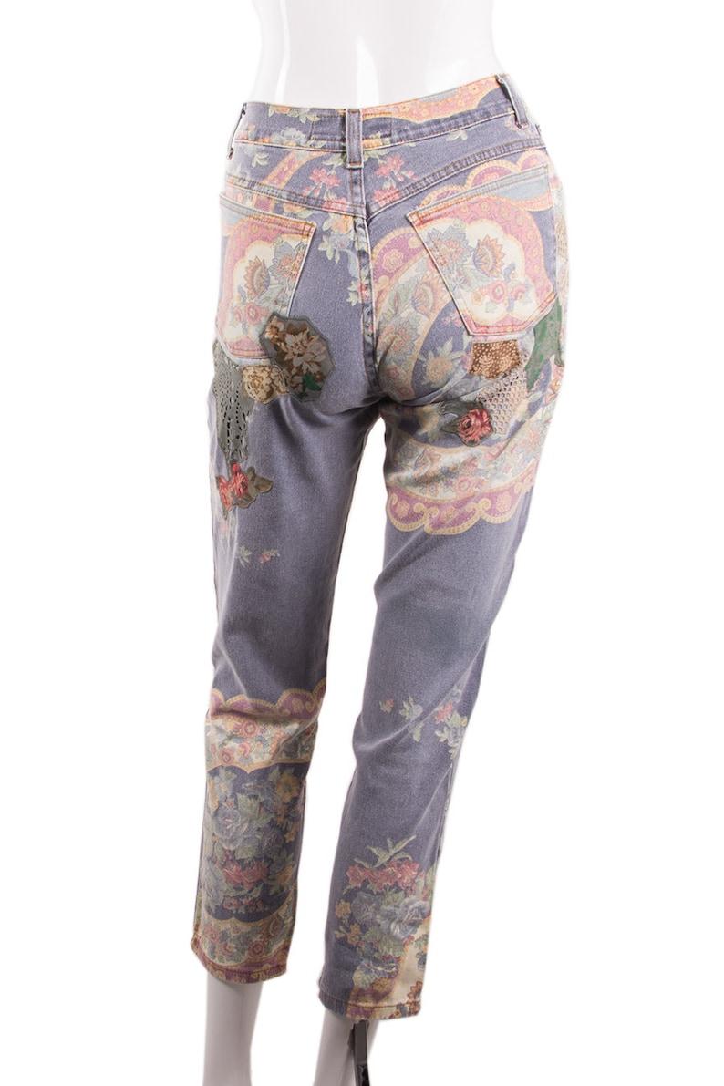 Vintage Roberto Cavalli Floral Printed Jeans