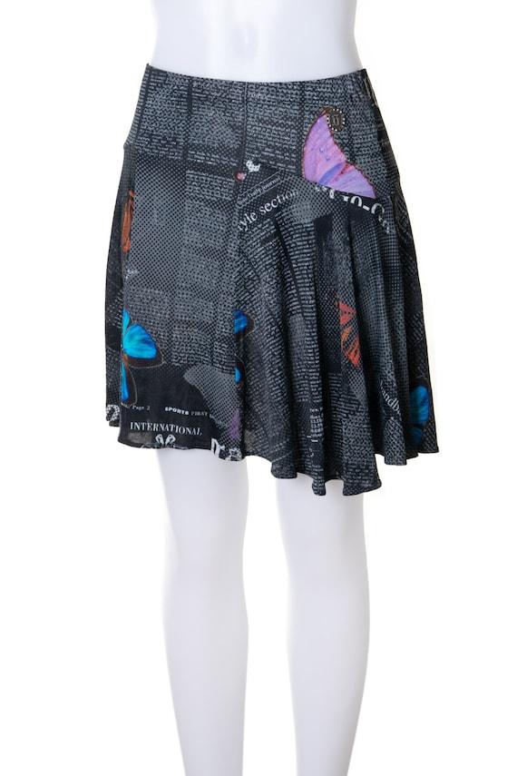 John Galliano Newspaper Print Skirt