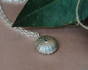Sea Urchin Necklace in Silver