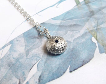 READY to SHIP in 4/6 WEEKS //Baby Sea Urchin charm in silver