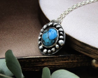 Turquoise Necklace in silver