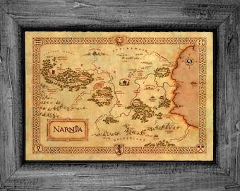 Narnia Map Poster Art Print