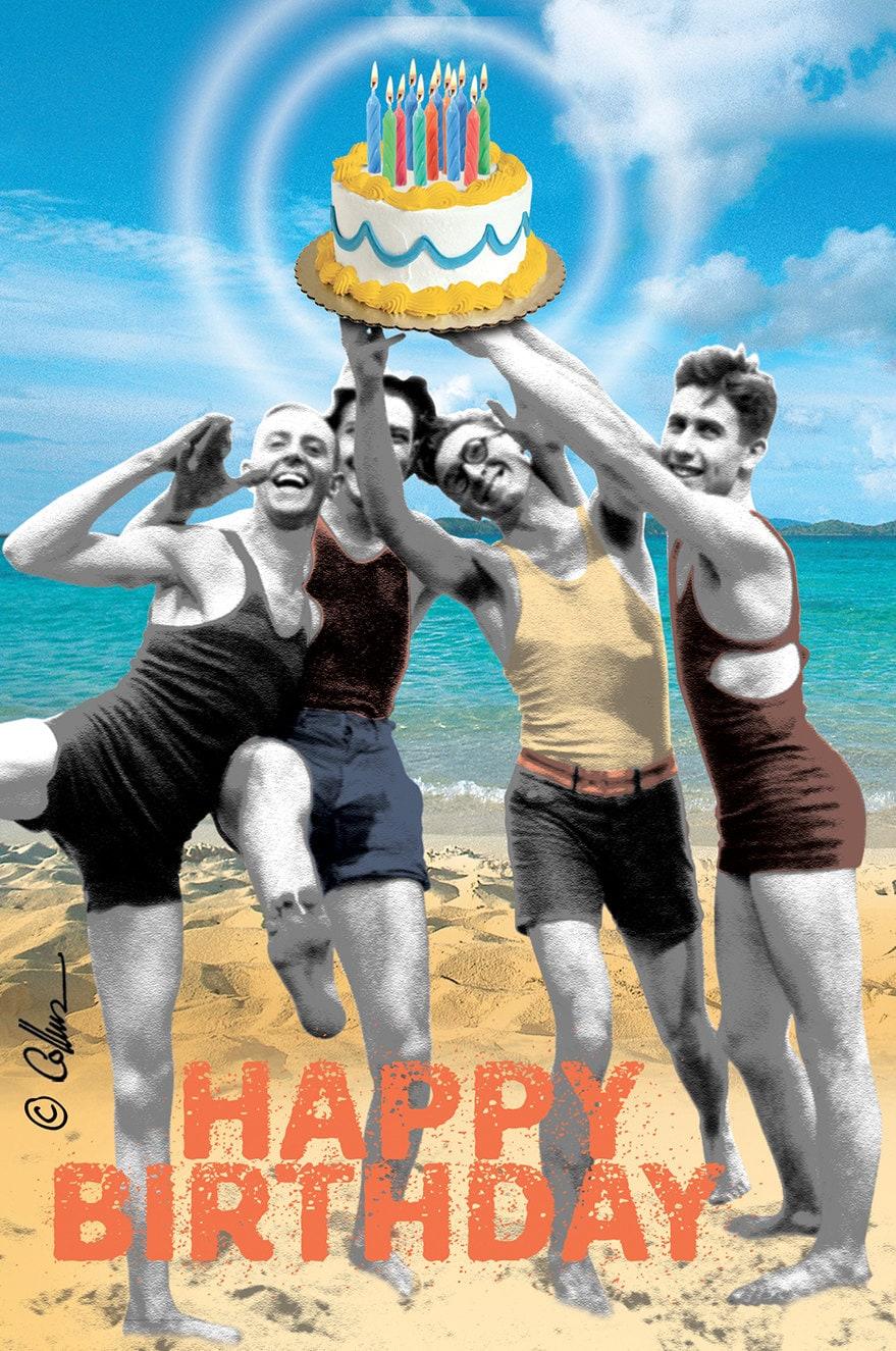 Gay Sexy Retro Young Happy Athletic Birthday Men Beach Fun Etsy
