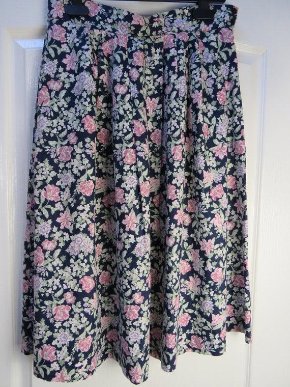 Laura Ashley Skirt, Vintage Laura Ashley, Vintage