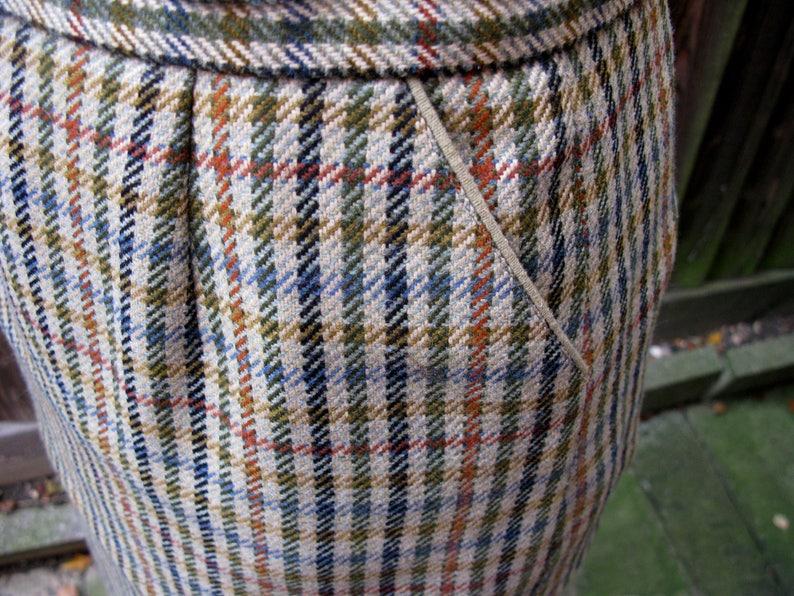 Checked Skirt Wool Skirt Scottish Skirt Vintage Skirt Pencil Skirt Pure Wool Skirt Crombie Mill Skirt 1970s Skirt Plaid Skirt