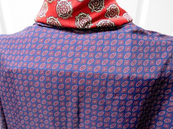 Sammy Smoking Jacket, Geometric Robe, Blue Smokin… - image 4