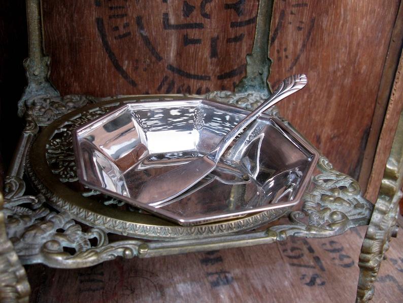 Butter Knife Butter Dish Vintage Butter Dish Formal Dining Afternoon Tea Silver Butter Dish Octagonal Butter Dish Tea Time Flatware